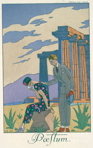 Consolation Mixed Media - Paestum by George Barbier