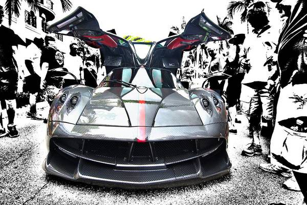 Photograph - Pagani Huayra Getting Attention by Don Columbus