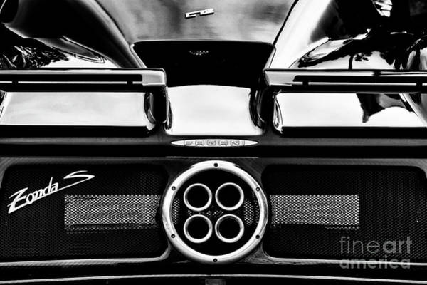 Photograph - Pagani Zonda C12s Car Rear Abstract by Tim Gainey