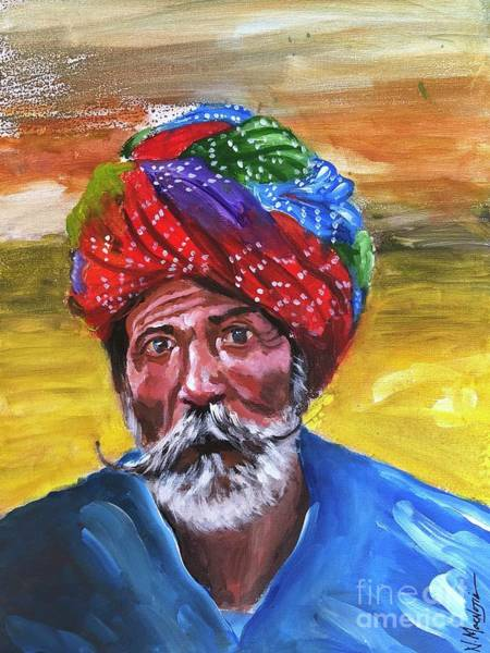 Art Print featuring the painting Pagdi by Nizar MacNojia