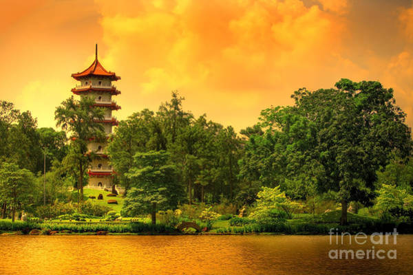 Wall Art - Photograph - Pagoda Of The Chinese Gardens In by Ben Heys