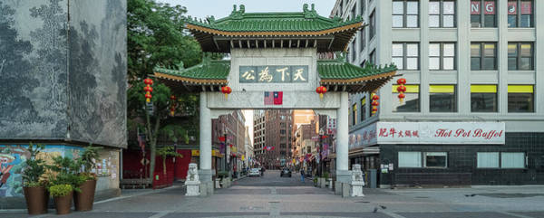 Wall Art - Photograph - Paifang Gate In Chinatown District by Panoramic Images