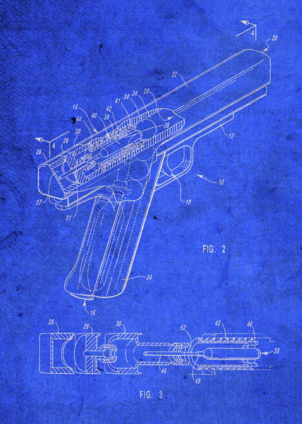 Patent Mixed Media - Paintball Gun Vintage Patent Blueprint by Design Turnpike