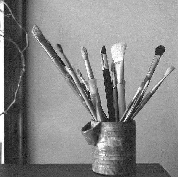 Art Object Photograph - Paintbrushes by Atsuo Watanabe
