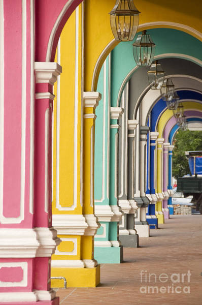 Wall Art - Photograph - Painted Arches 3, George Town, Penang by Mark Hall