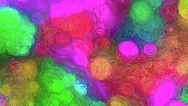 Digital Art - Painted Bokeh Imapasto Pinkish Purple by Don Northup