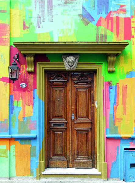 Photograph - Painted Entrance, Palermo, Buenos Aires by Kurt Van Wagner