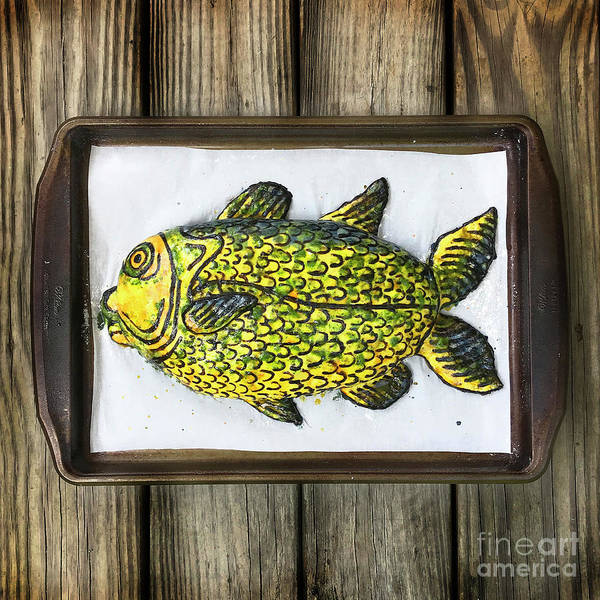 Photograph - Painted Fish Sourdough Sculpture 1 by Amy E Fraser