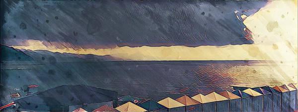 Wall Art - Digital Art - Painted Marine Sunset by Andrea Barbieri
