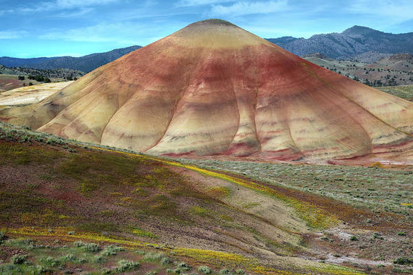 Photograph - Painted Mountain by Leland D Howard