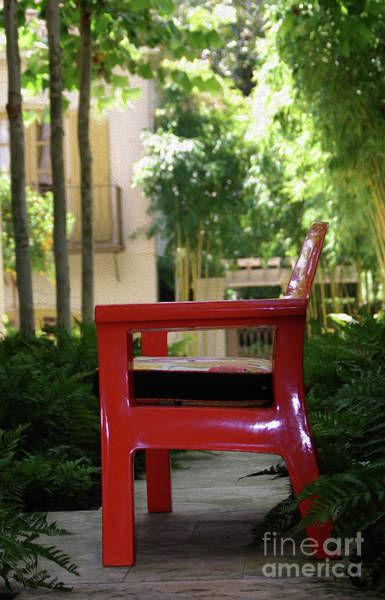 Wall Art - Photograph - Painted Red Chair by Skip Willits