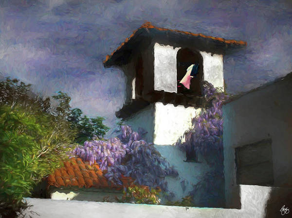 Photograph - Painted Washline In A Spanish Tower by Wayne King