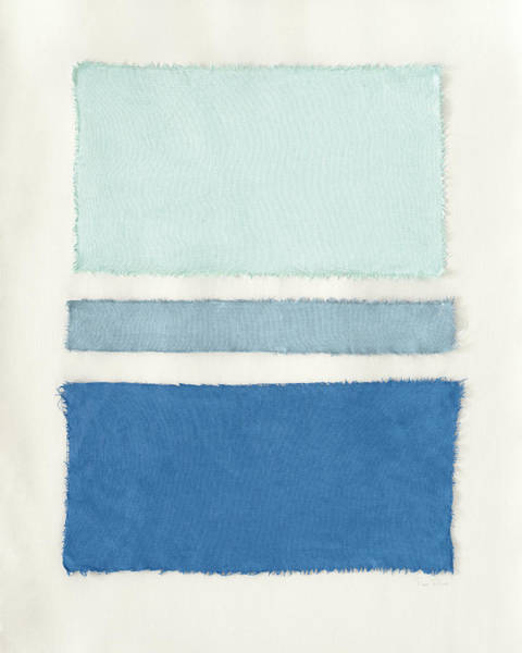 Wall Art - Painting - Painted Weaving V Pacific Blue by Piper Rhue