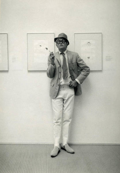 Working Photograph - Painter David Hockney At The John by Basil Langton