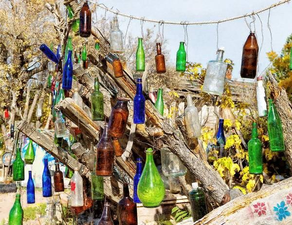 Wall Art - Digital Art - Painterly Bottles In The Sunshine by Kathleen Bishop
