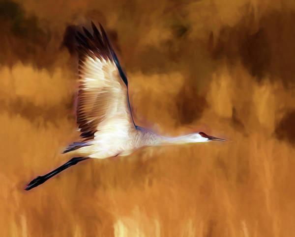 Painterly Crane Art Print