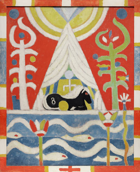 Wall Art - Painting - Painting No 4, A Black Horse, 1915 by Marsden Hartley