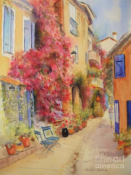 Painting - Painting Of Grimauld Village France by Beatrice Cloake