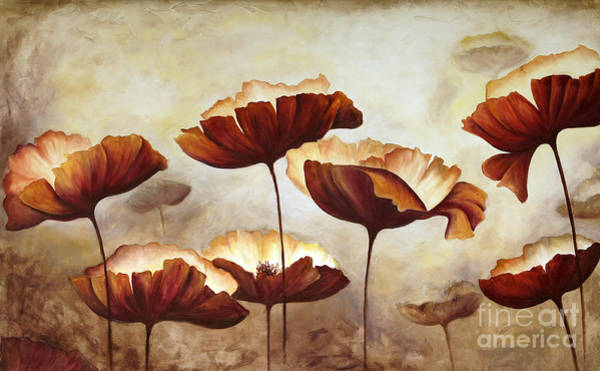 Wall Art - Digital Art - Painting Poppies With Texture by Mauricio Graiki