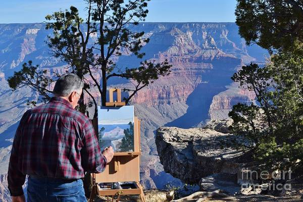 Plein Air Photograph - Painting The Canyon by Jerry Bokowski