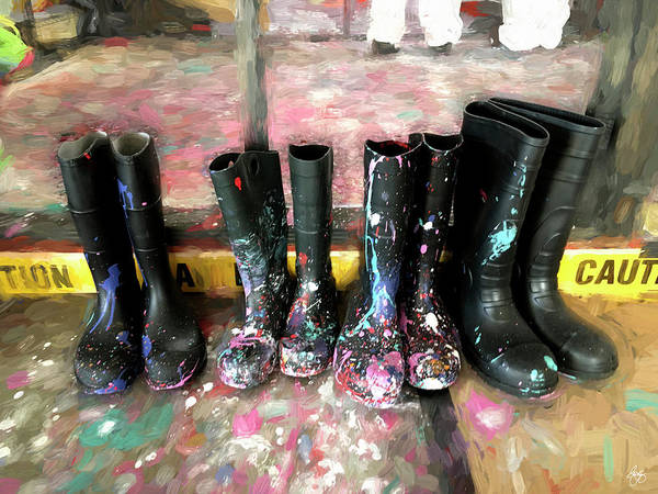 Photograph - Painty Boots by Wayne King