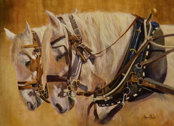 Wall Art - Painting - Pair In Harness by Barry BLAKE