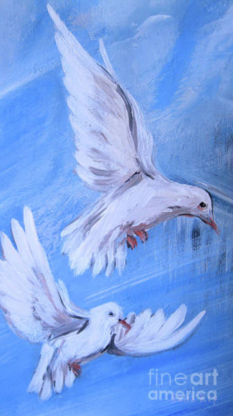 Painting - Pair Of Doves by Oksana Semenchenko