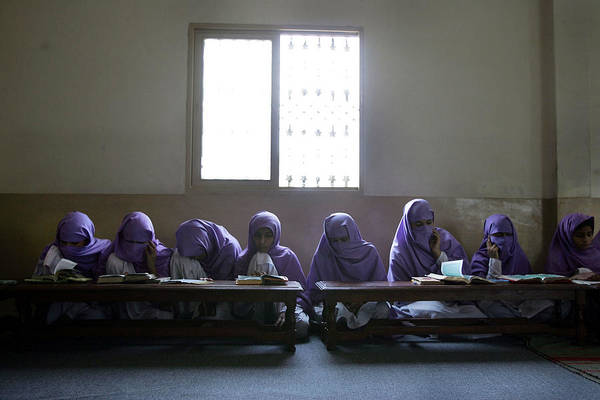 Teaching Photograph - Pakistani Madrassas Face International by John Moore