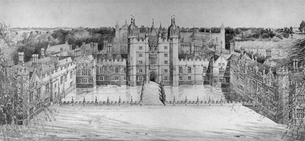 Courting Digital Art - Palace Restoration by Hulton Archive