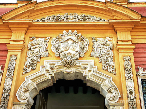 Photograph - Palacio De San Telmo Details In Seville by John Rizzuto