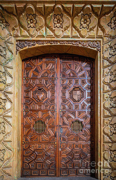 Photograph - Palafoxiana Door by Inge Johnsson
