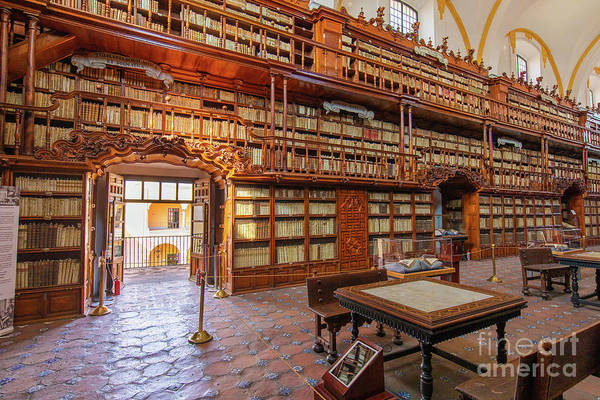 Photograph - Palafoxiana Library by Inge Johnsson