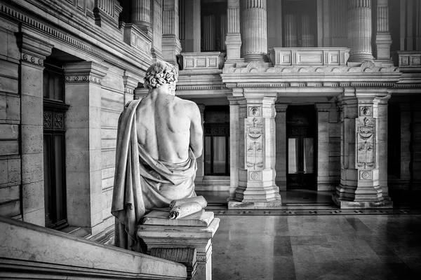 Palais Photograph - Palais De Justice Brussels Black And White by Carol Japp