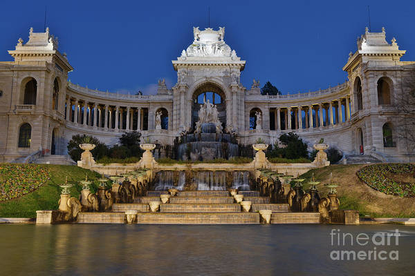 Photograph - Palais Longchamp At Night by Angelo DeVal