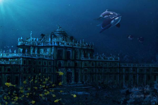 Ocean Scape Digital Art - Palazzina Di Caccia by Andrea Gatti