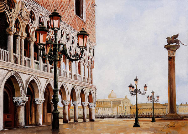 Wall Art - Painting - Palazzo Ducale  by Guido Borelli