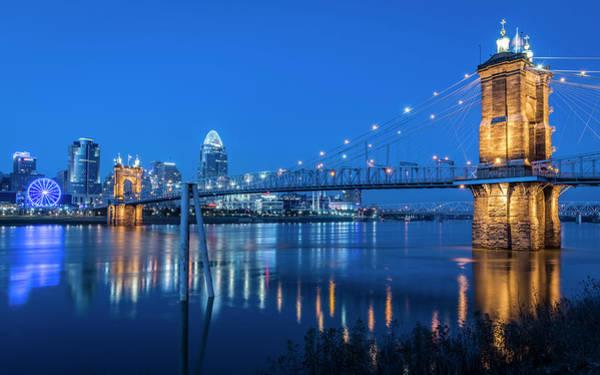 Photograph - Pale Blue Cincinnati by Christina DeAngelo