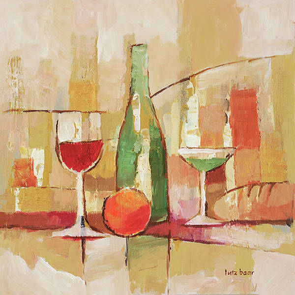 Painting - Pale Still Life by Lutz Baar