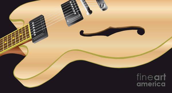 Wall Art - Digital Art - Pale Wood Electric Guitar by Bigalbaloo Stock