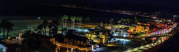 Photograph - Palisades Park Night - Panorama by Gene Parks