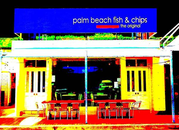 Photograph - Palm Beach Australia - Fish And Chips by VIVA Anderson