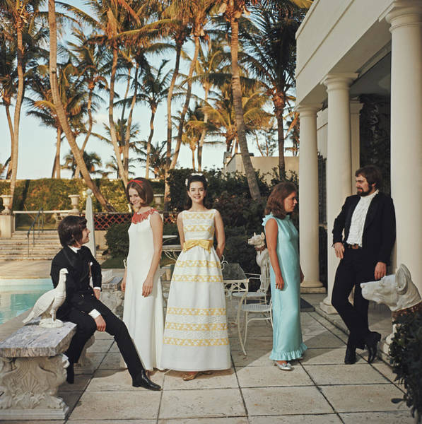 Palm Beach Photograph - Palm Beach Debutantes by Slim Aarons