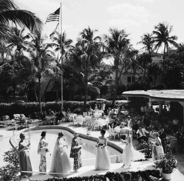 Fashion Model Photograph - Palm Beach Fashion Show by Slim Aarons