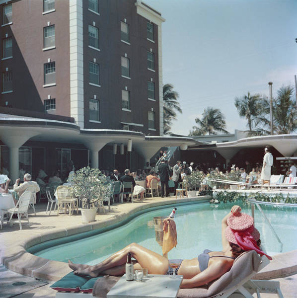 Hat Photograph - Palm Beach by Slim Aarons