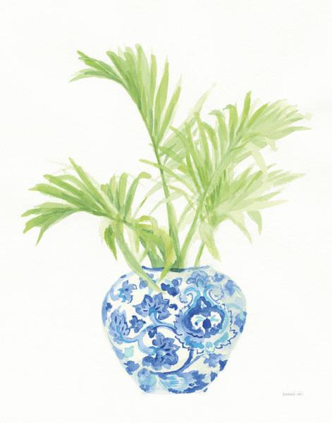 Wall Art - Painting - Palm Chinoiserie White II by Danhui Nai