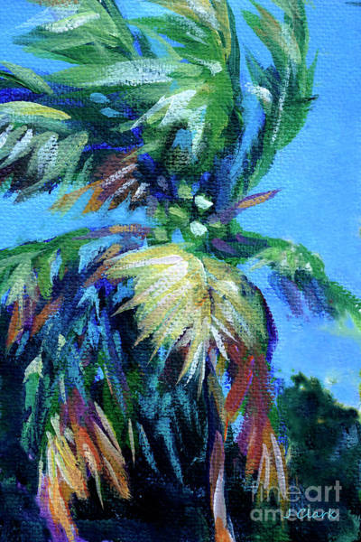 Coconut Painting - Palm In The Breeze by John Clark