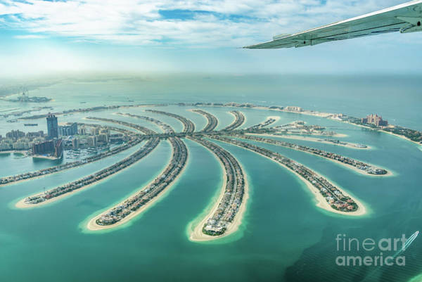Wall Art - Photograph - Palm Jumeirah From Above In Dubai by Delphimages Photo Creations