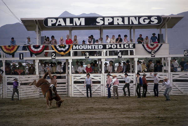 Crowd Photograph - Palm Springs Rodeo by Slim Aarons