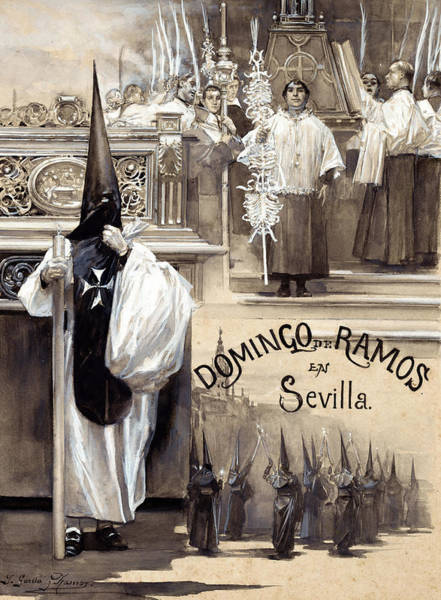 Wall Art - Painting - Palm Sunday In Seville by Jose Garcia Ramos