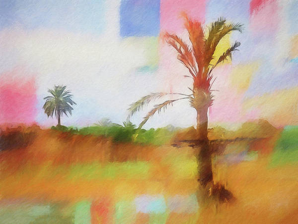 Painting - Palm-trees Impression by Lutz Baar